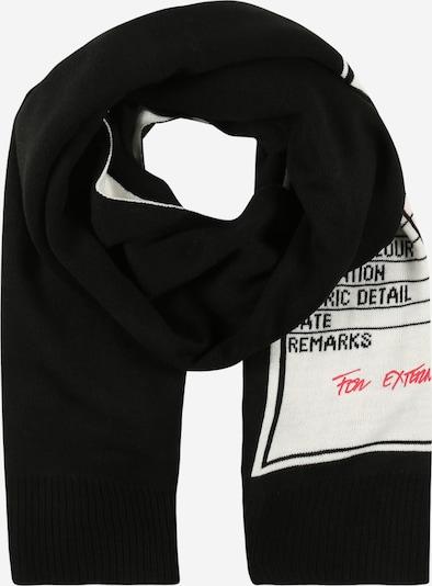 DIESEL Schal 'Gubo' in schwarz / weiß, Produktansicht