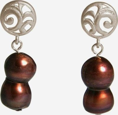 Gemshine Ohrringe in rot / silber, Produktansicht