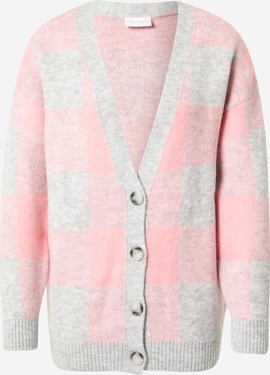VILA Knit Cardigan 'Wow' in mottled grey / Pink, Item view