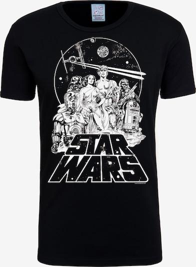 LOGOSHIRT T-Shirt 'Star Wars - Classic' in schwarz / weiß, Produktansicht