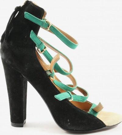 ZARA High Heel Sandaletten in 37 in türkis / schwarz, Produktansicht