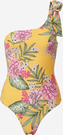 GUESS Badeanzug 'ONE PIECE' in gelb / grün / pink, Produktansicht