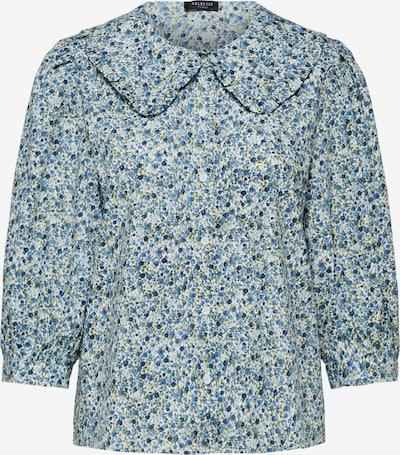 SELECTED FEMME Bluse in blau / weiß, Produktansicht