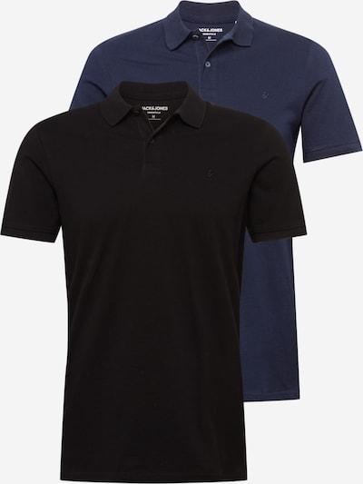 JACK & JONES Poloshirt in dunkelblau / schwarz, Produktansicht