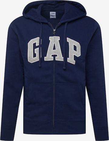 GAP Sweat jacket 'CHL FZ ARCH' in Blue