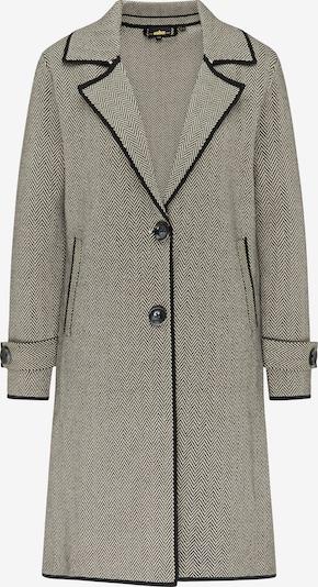 Palton tricotat usha BLACK LABEL pe negru / alb, Vizualizare produs