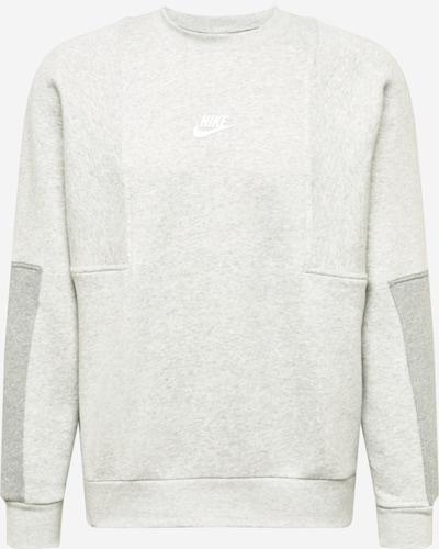 Nike Sportswear Sweatshirt in hellgrau / graumeliert / weiß, Produktansicht