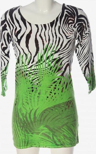 IMAGINI Feinstrickpullover in M in grün / schwarz / weiß, Produktansicht