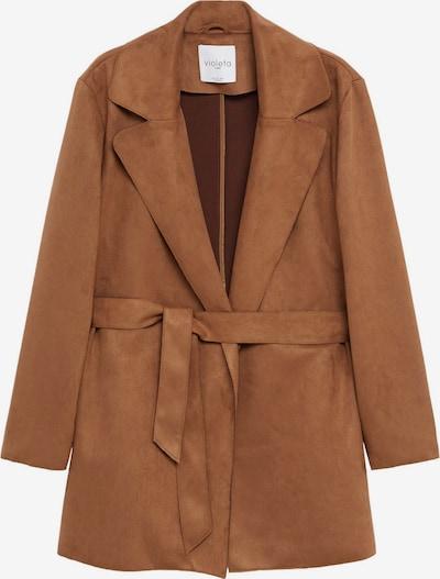 VIOLETA by Mango Prehodna jakna 'Clara' | karamel barva, Prikaz izdelka