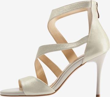 Sandales à lanières faina en or