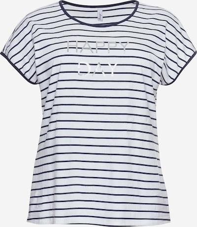 SHEEGO Shirt in de kleur Marine / Zilver / Wit, Productweergave