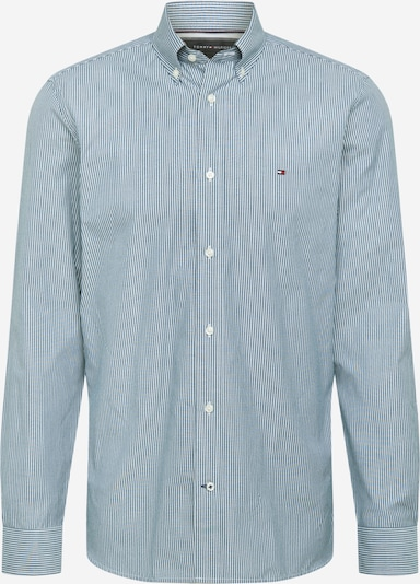 TOMMY HILFIGER Overhemd in de kleur Donkergroen / Wit, Productweergave