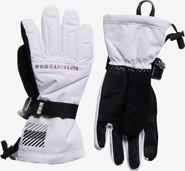 Gants de sport Superdry en blanc