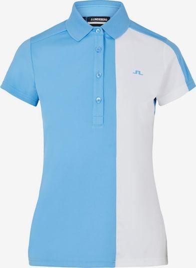 J.Lindeberg Poloshirt in hellblau / weiß: Frontalansicht