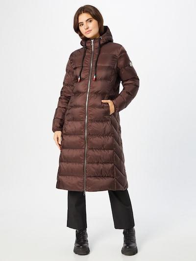 No. 1 Como Manteau d'hiver 'IDA' en chocolat, Vue avec modèle