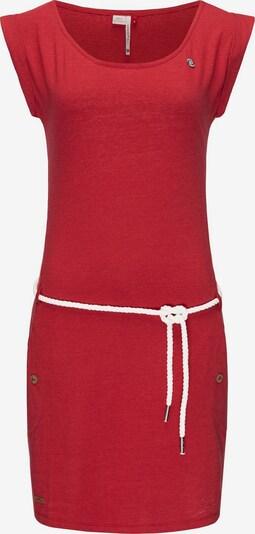Ragwear Kleid 'Tag' in rot / weiß, Produktansicht