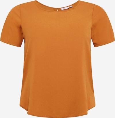 ONLY Carmakoma T-shirt en moutarde, Vue avec produit