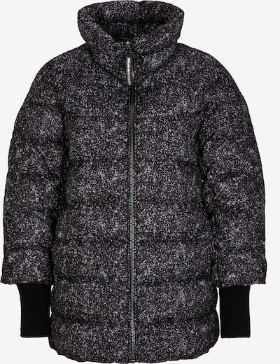 s.Oliver BLACK LABEL Puffer Jacket mit Flockprint in schwarz, Produktansicht