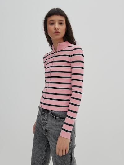 EDITED Strickjacke 'Erin' in rosa, Modelansicht
