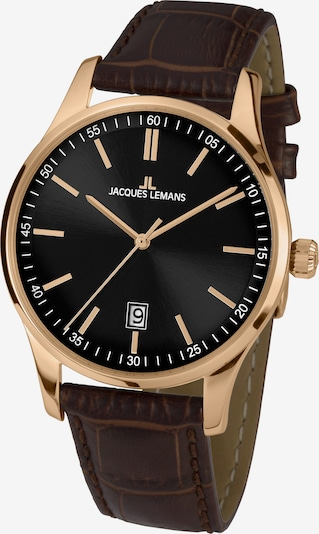 Jacques Lemans Uhr in dunkelbraun / gold, Produktansicht