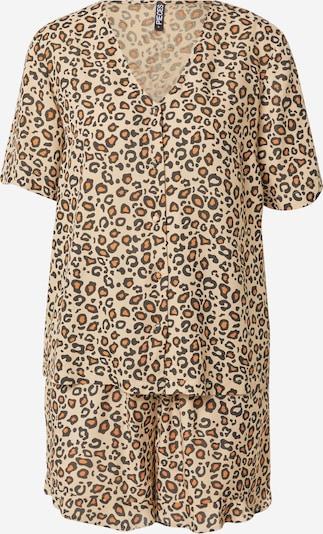 PIECES Pyžamo 'Anjana' - béžová / oranžová / černá, Produkt