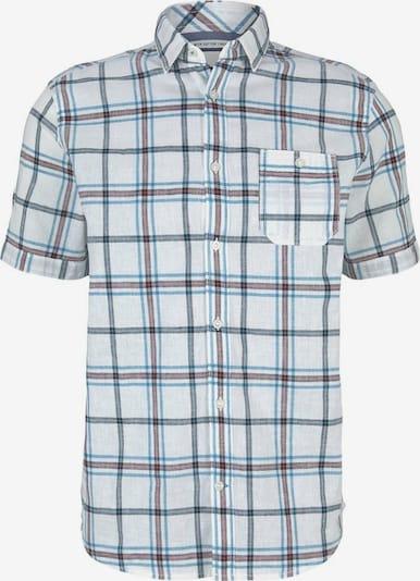 TOM TAILOR Hemd in rauchblau / pastellrot / offwhite, Produktansicht