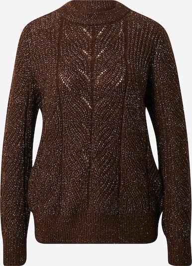 OBJECT Pullover 'Nova Stella' in braun / silber, Produktansicht