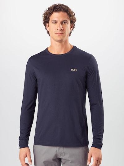 BOSS ATHLEISURE Majica 'Togn' u tamno plava / zlatna: Prednji pogled