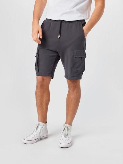 Only & Sons Pantalon cargo en gris foncé, Vue avec modèle