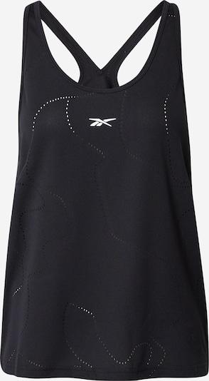 Reebok Sport Urheilutoppi 'United By Fitness' värissä musta / valkoinen, Tuotenäkymä