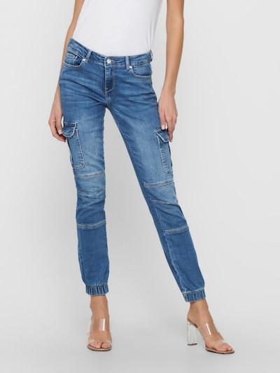 ONLY Jeans cargo en bleu denim, Vue avec modèle