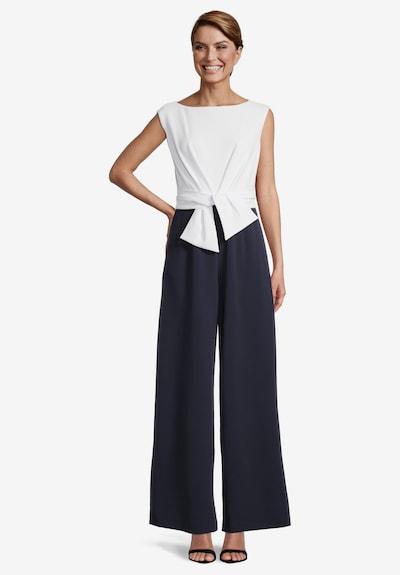 Vera Mont Jumpsuit mit weitem Bein in dunkelblau / weiß, Modelansicht
