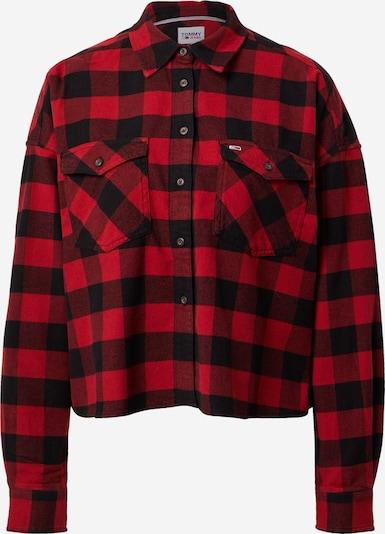 Tommy Jeans Blouse 'GINGHAM' in de kleur Rood / Zwart, Productweergave
