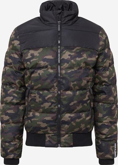 Superdry Kurtka zimowa w kolorze khaki / ciemnozielony / czarnym, Podgląd produktu
