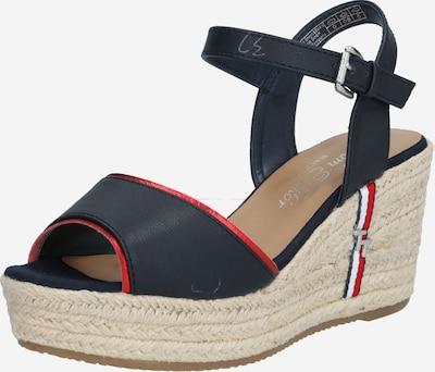 TOM TAILOR Sandale in beige / nachtblau / rot, Produktansicht