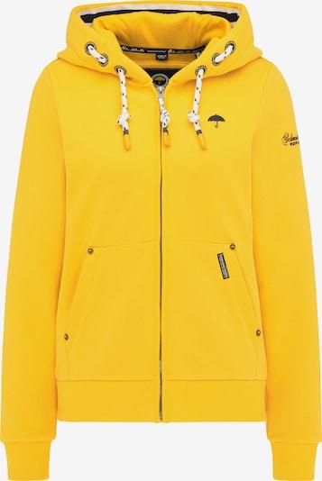 Schmuddelwedda Sweatjacke in navy / gelb, Produktansicht