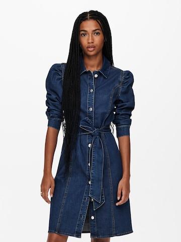 ONLY Kleid 'ONLRAMINA' in Blau
