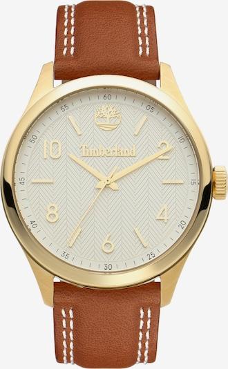 TIMBERLAND Uhr in karamell / gold / weiß, Produktansicht