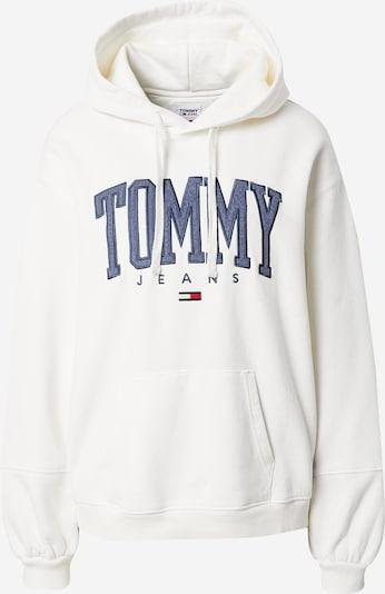 Felpa Tommy Jeans di colore avorio / blu colomba / rosso, Visualizzazione prodotti