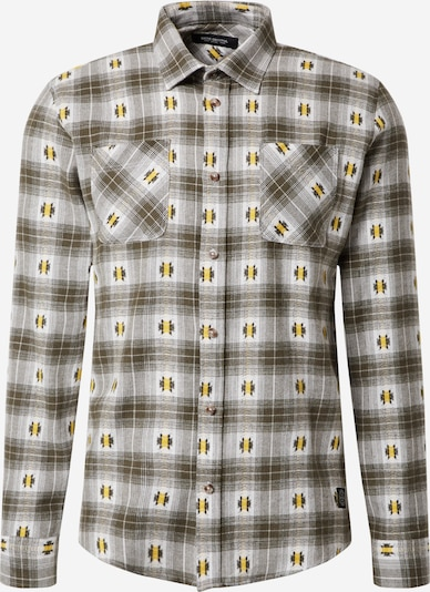 SHINE ORIGINAL Košulja u tamno smeđa / žuta / kaki / prljavo bijela, Pregled proizvoda