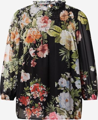 VERO MODA Bluse 'Reana' in grün / pink / schwarz, Produktansicht