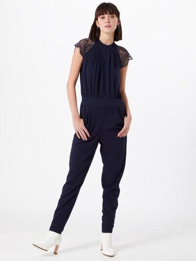 Mela London Jumpsuit in navy, Modelansicht