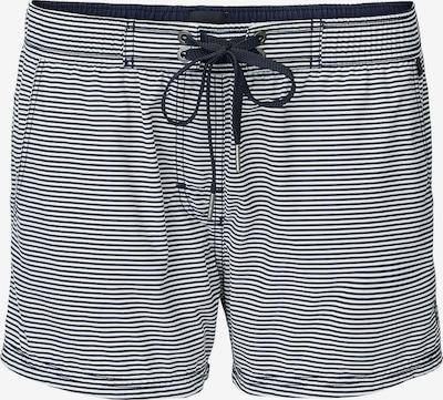 Marc O'Polo Shorts de bain en bleu nuit / blanc, Vue avec produit
