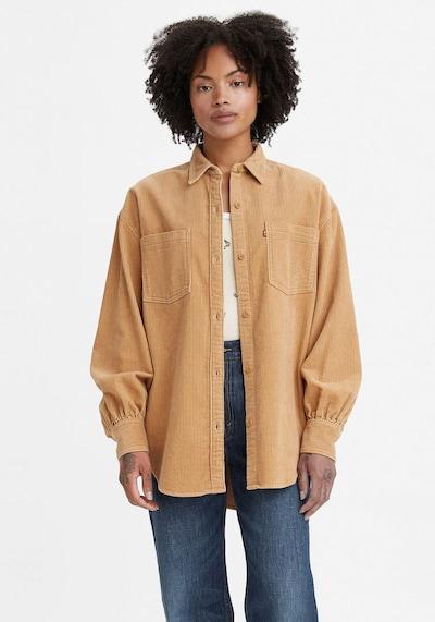 LEVI'S Bluse in hellbraun / rot / weiß, Modelansicht