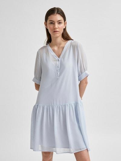 Selected Femme Petite Kleid 'Abigail' in azur, Modelansicht