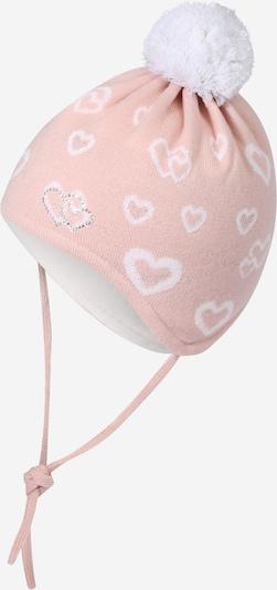 MAXIMO Bonnet en rose / blanc, Vue avec produit
