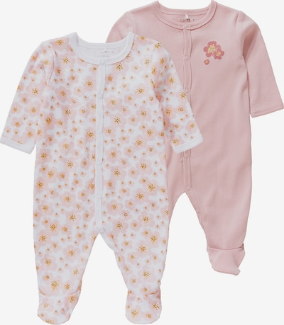 NAME IT Schlafanzug in gelb / rosa / altrosa / weiß, Produktansicht