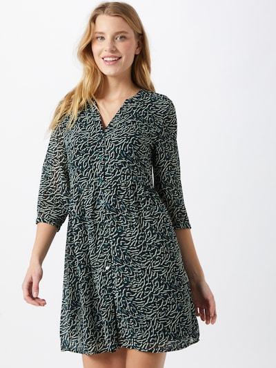 VILA Robe-chemise 'NEMA' en pétrole / noir / blanc, Vue avec modèle