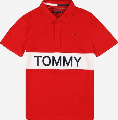 TOMMY HILFIGER Majica | mornarska / rdeča / bela barva: Frontalni pogled
