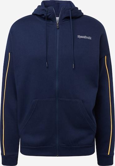 Reebok Sport Sportsweatvest in de kleur Donkerblauw / Geel, Productweergave